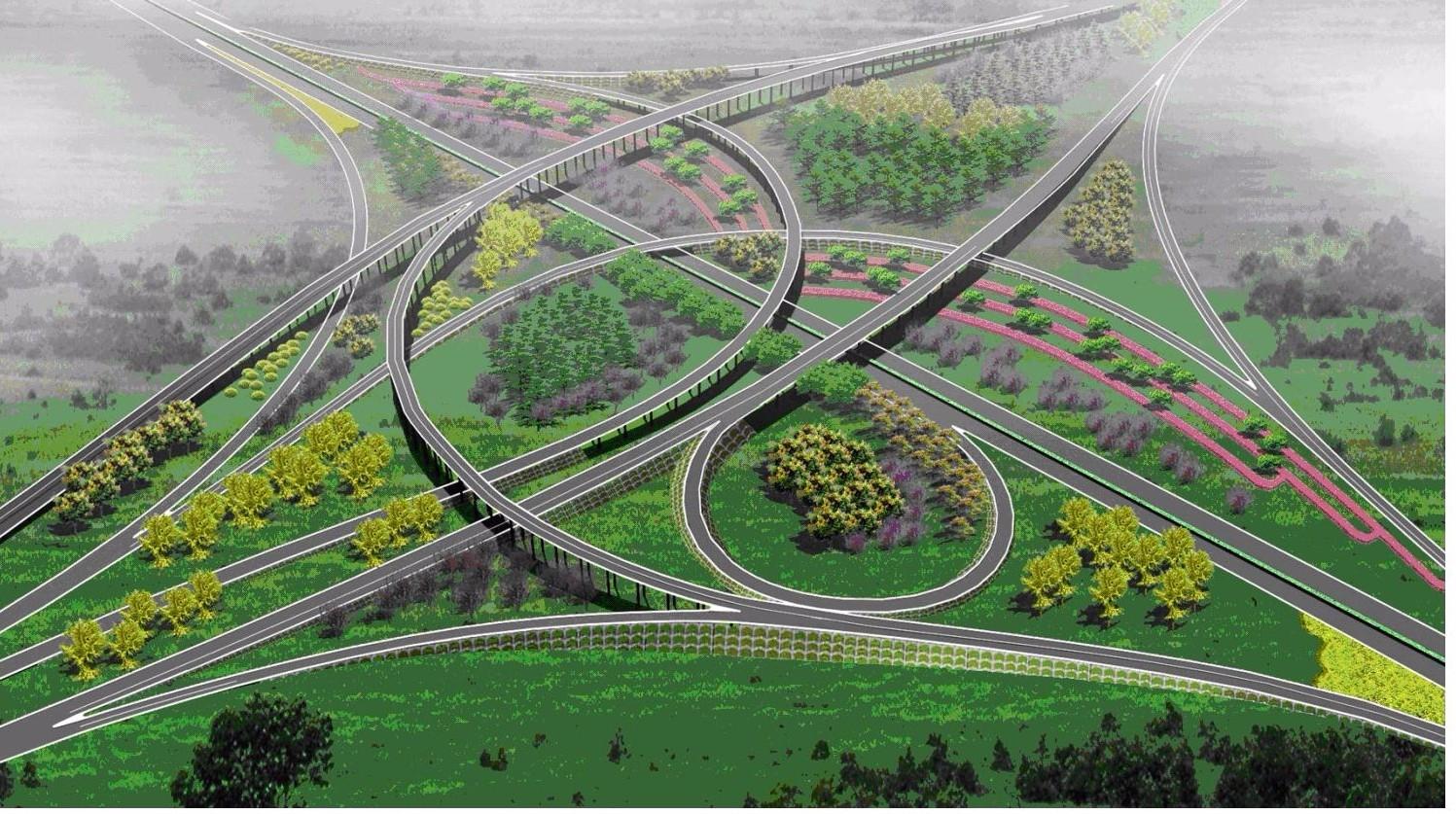 连霍高速与十三大街互通式立交
