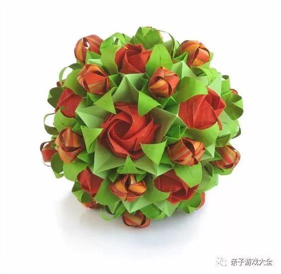 折纸简单花球步骤图解