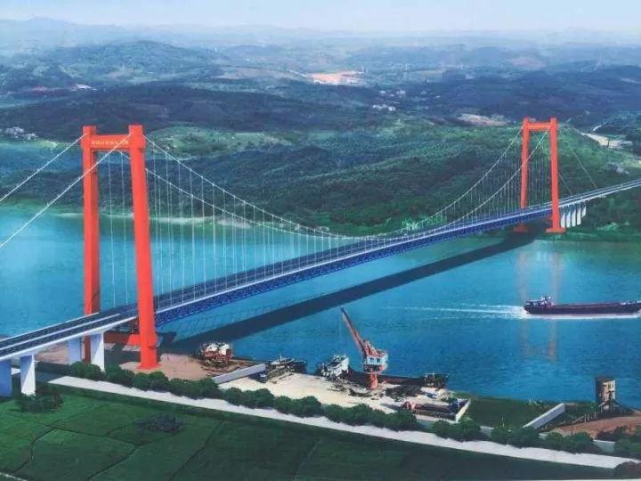 宜昌白洋長江大橋圖片