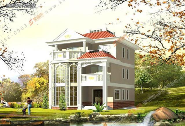 「墅图网」欧式三层复式别墅自建房,土豪的专属户型!