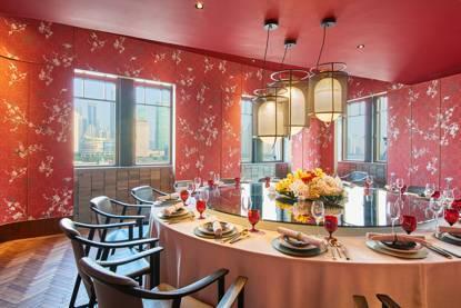 上海风情用餐空间手绘