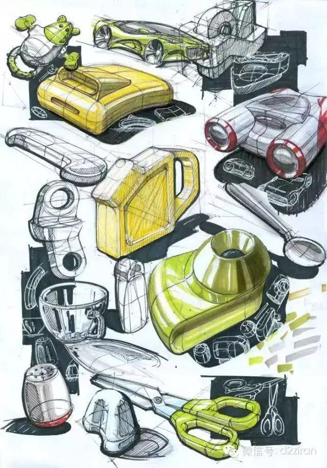 马克笔在产品手绘中的多元化表达(蚌埠园林手绘培训班