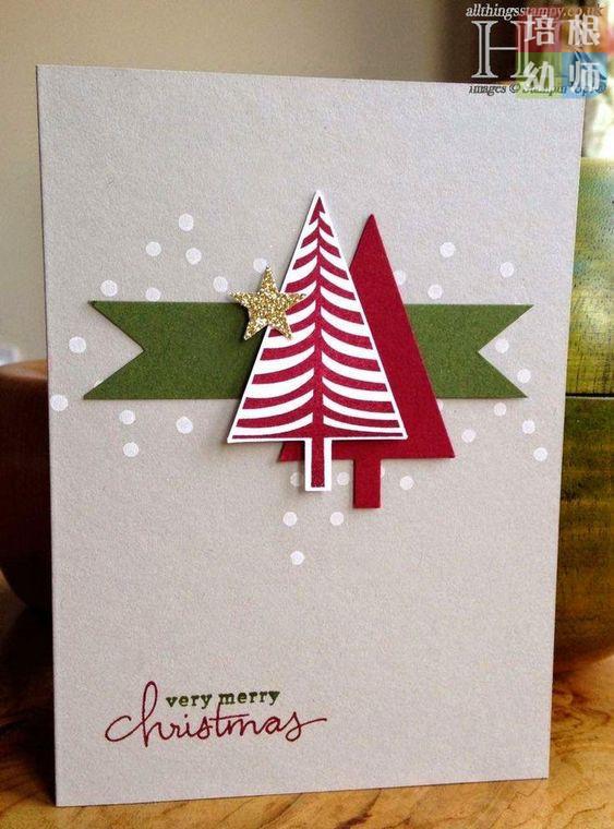 圣诞节贺卡手工大全,材料简单,效果完美,拿去就能做!