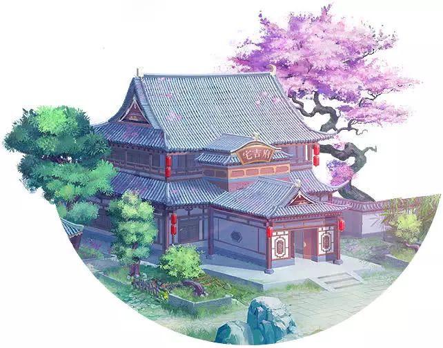 手绘画桃花