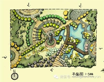 地形设计手绘平面图