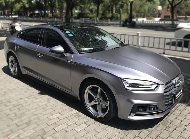 奥迪a5魅力改色质感碳灰贴膜效果图电光汽车2016款福特锐界四驱图片
