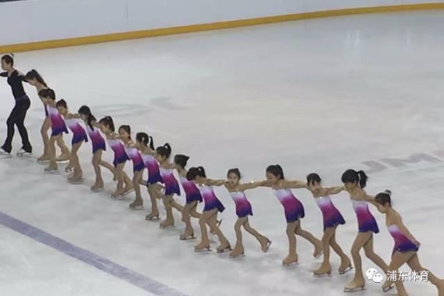 花样滑冰队列滑表演图片