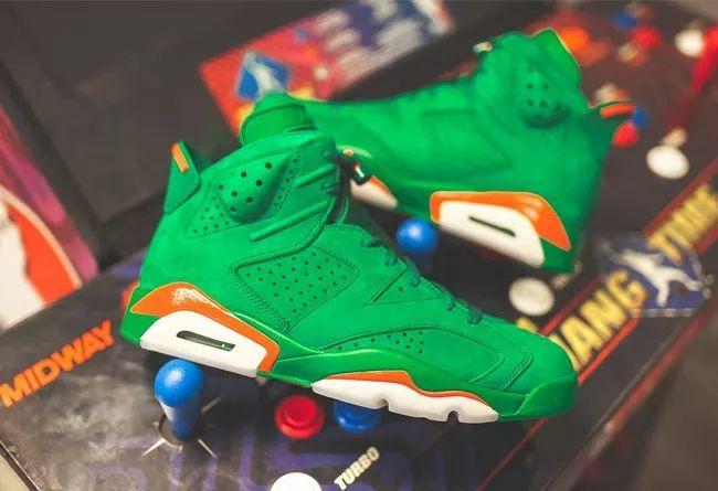 绿色版本!佳得乐 Air Jordan 6 实物美图!
