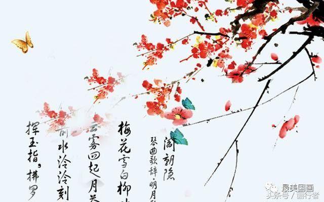 秋装新欹il�(�_[转载]水墨画写意梅花画法图文详解,中国画画梅花作品