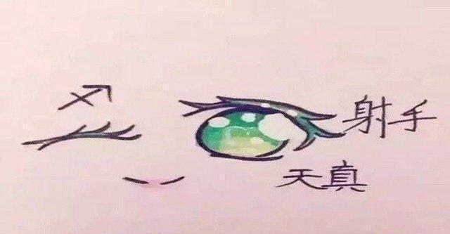 十二星座专属手绘眼睛,你喜欢哪个呢?