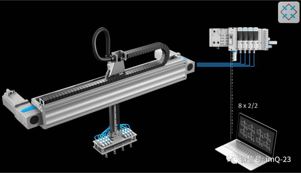 抓取机械臂应用中,经常需要在生产运行期间更换不同类型的气动夹具.图片