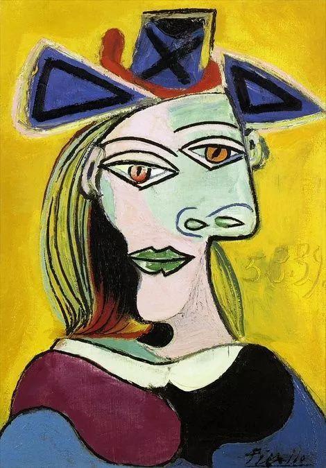 生活本来就是如此,然而毕加索把它延伸到肖像上.