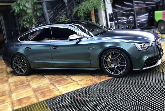 宝石a5质感改色贴膜奥迪绿汽车效果图电光轮胎15款比亚迪f3如何换金属图片