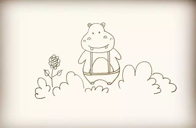 师讯网推荐——幼儿园儿童简笔画教程:狮子与河马画法