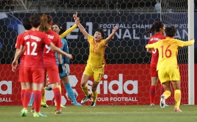 中国女足3-1完胜韩国