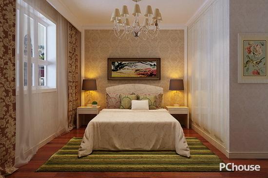 简欧卧室床头背景墙效果图图片