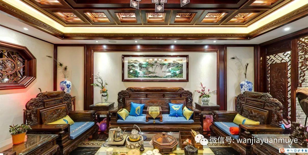 传承庄重与优雅的东方美学,木质与玉石的完美结合,精雕细琢的中式雕花图片