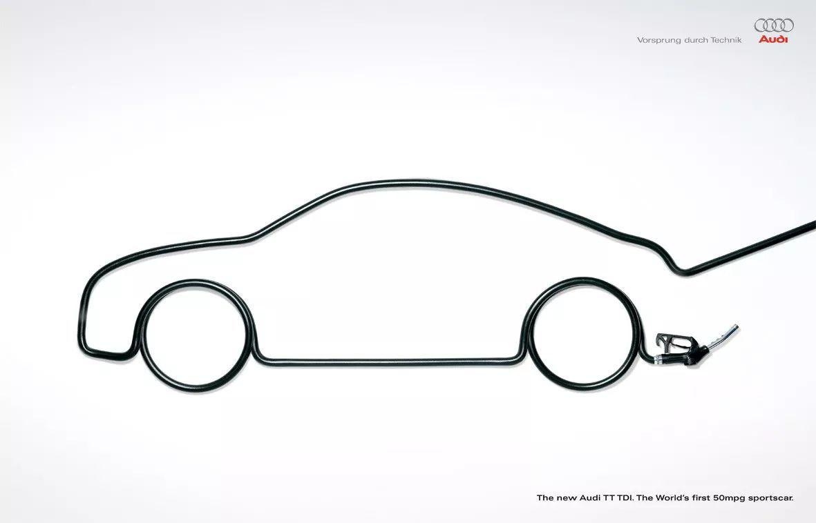奥迪汽车创意广告欣赏!图片