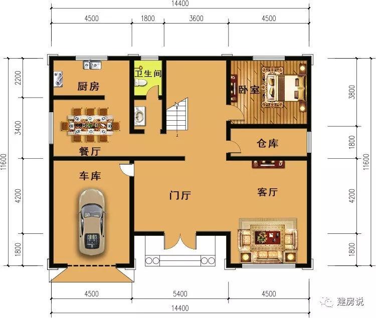 5套别墅箱式带厕所,城里买农村的钱别墅就建小车库origin散二层点图绘制图片