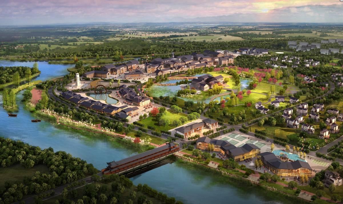 """其间将打造7处景观或节点,有李冰治水主题公园,胥家镇郊""""诗意田园"""""""