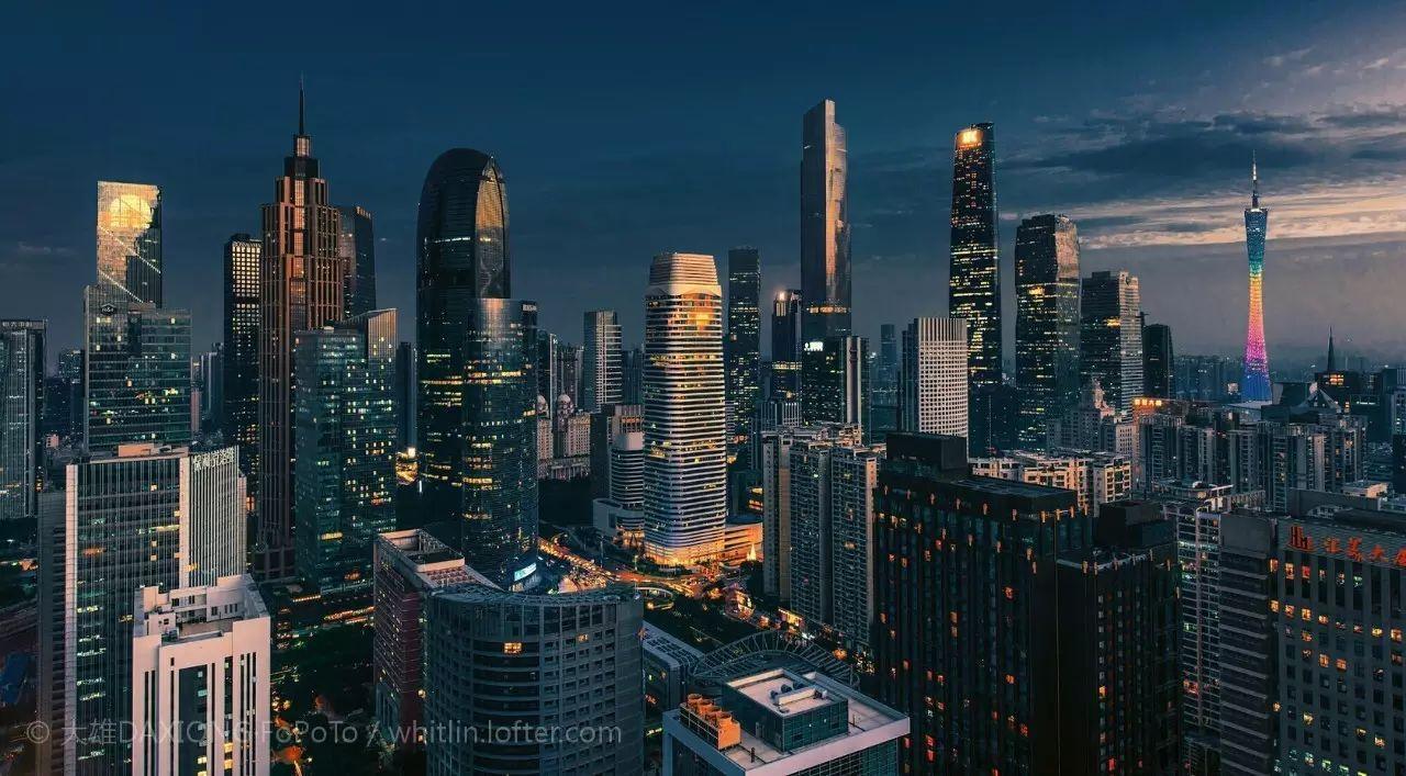 请多看看广州的高楼大厦