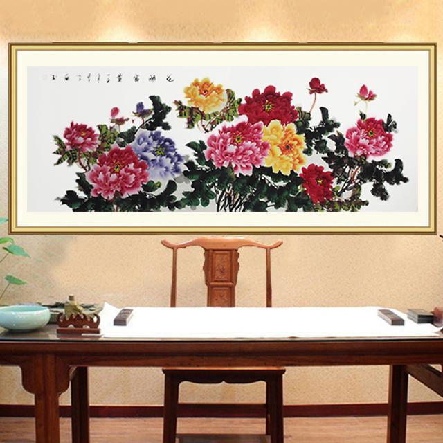 李兰老师手绘国画牡丹《花开富贵》眉黛青颦,描神画鬼