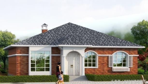 12款一层农村别墅设计图,2最实用5最漂亮,建楼房的看完都哭了