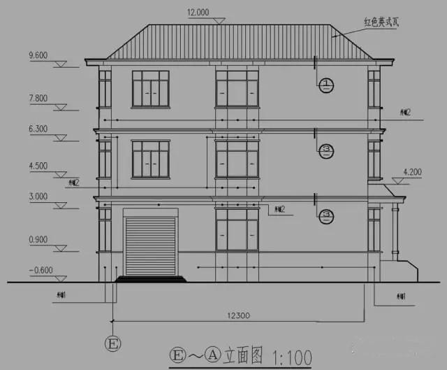 5x12.3米三层现代大气农村自建房农村别墅