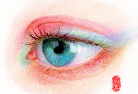 超级彩铅教程画眼睛