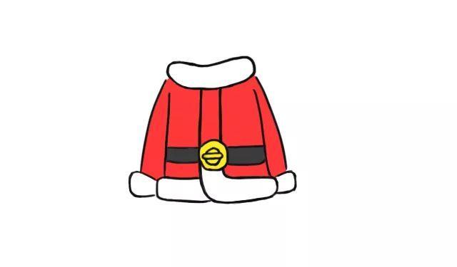 每日一画 圣诞外套 简笔画,温暖抢眼