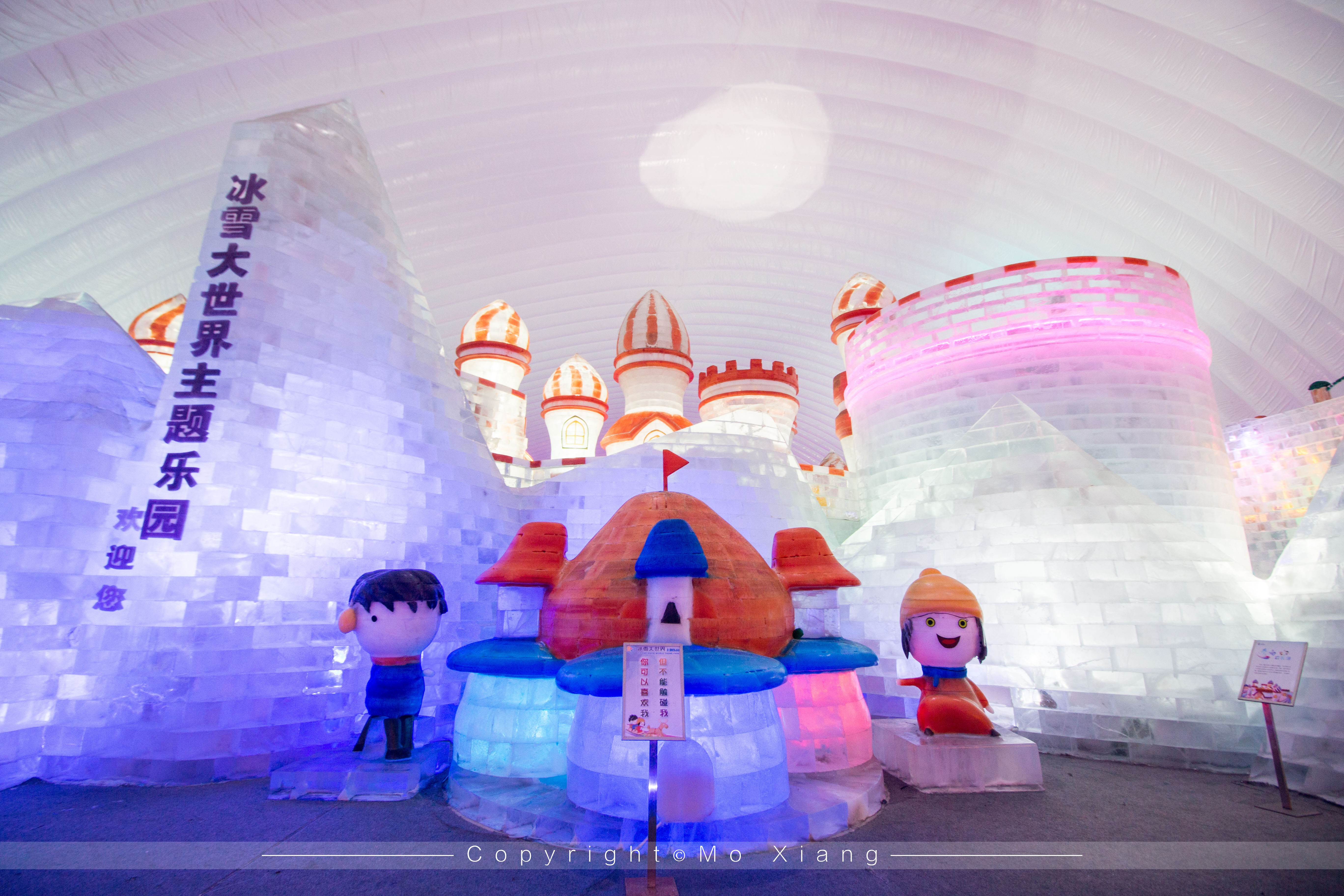 当地特意修建了一座冰雪大世界的室内馆,这给予了那些带着遗憾临走前图片