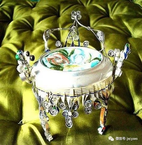 手工制作:易拉罐制作精美小椅子