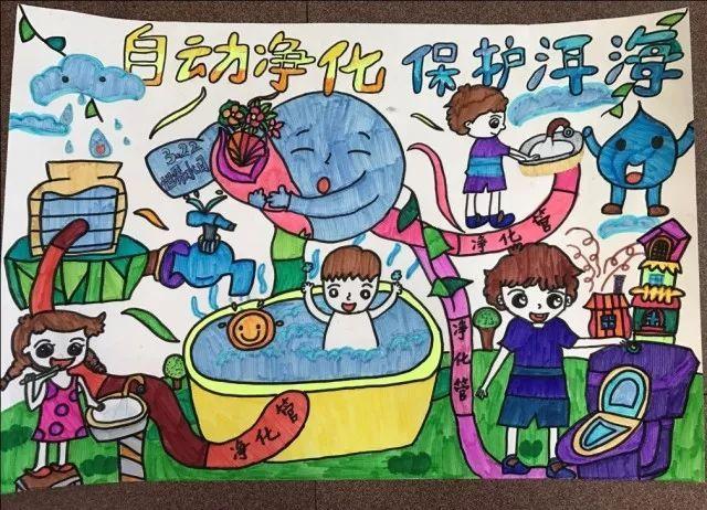 关于洱海保护,你是智慧之光——大理市中小学生科学幻想绘画作品展图片