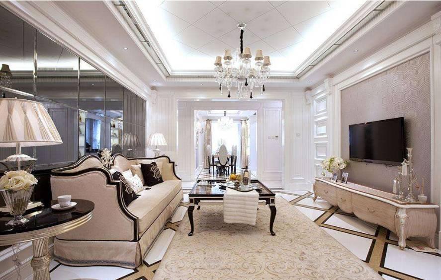 客厅沙发背景墙后面是反光材质最为常见.