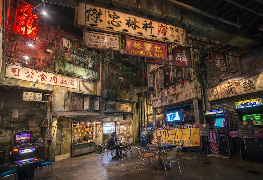 """布局仿照""""warehouse""""的室内游乐场的v布局漫画名为了九龙城寨在漫画你一座囚图片"""