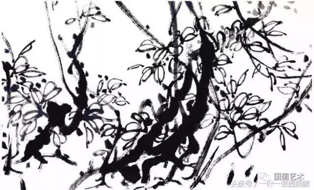 写意藤蔓植物画法教程 藤蔓,叶的组合画法,牵牛花扁豆