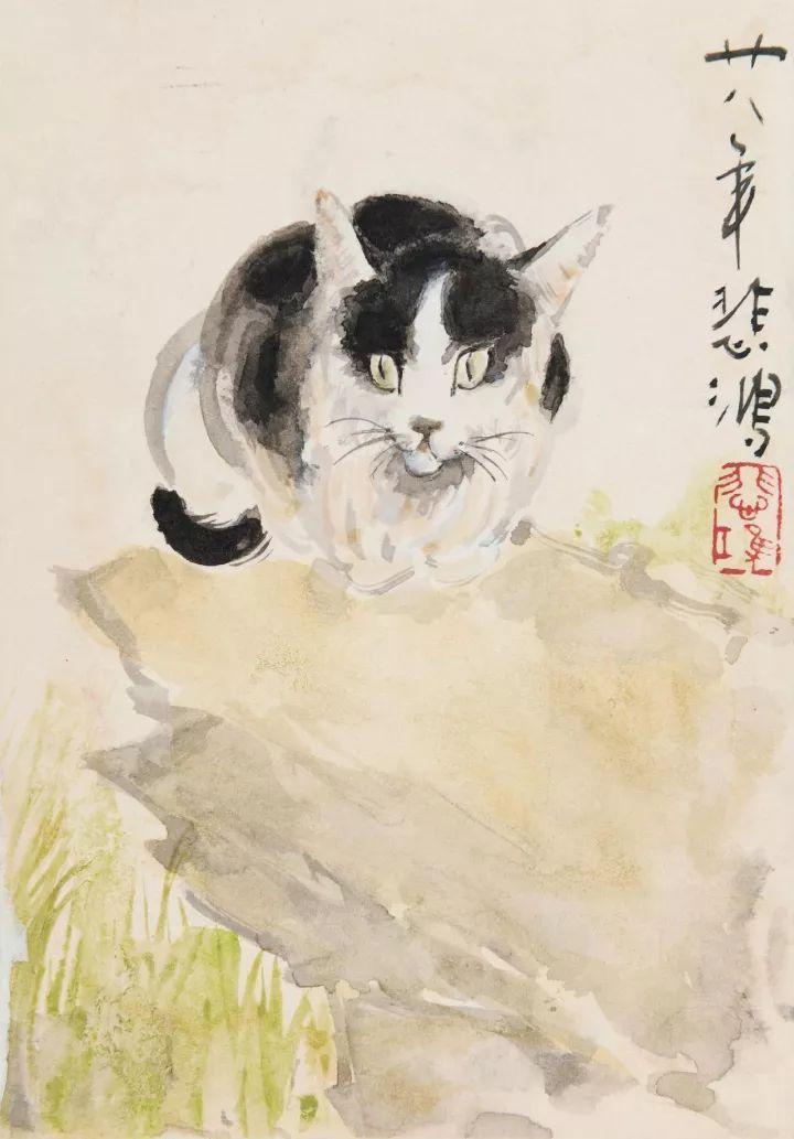现当代名家:徐悲鸿画猫作品欣赏