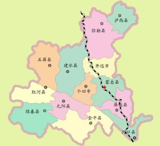 红河州人口有多少_红河州各市县 弥勒市人口 面积和经济排第一,看看河口排第