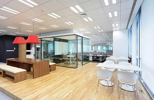 互联网,现代简约大厅办公室装修设计风格中国建设银行案例设计图图片