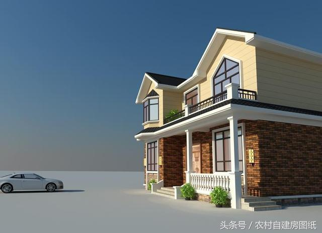 大胆创别墅才会大栋_12x11米二层农村小别墅,施工简单,外观很吊,老爸都能建好