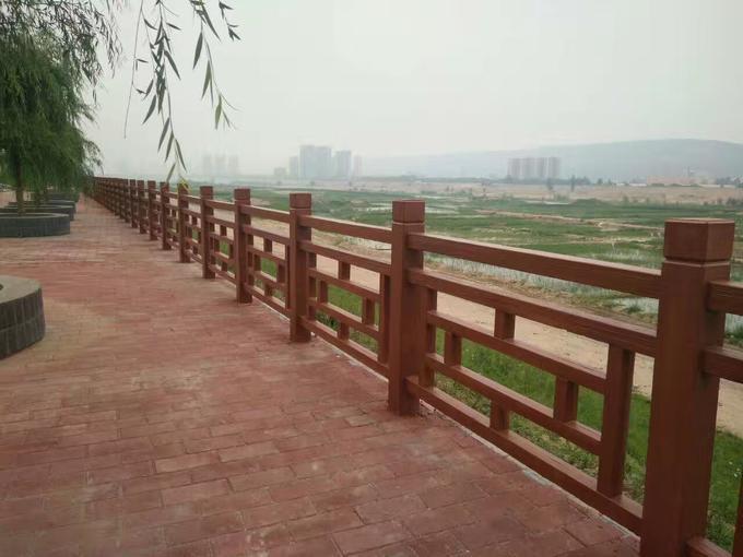 水泥仿木栏杆如何上色 混凝土仿木纹栏杆图集
