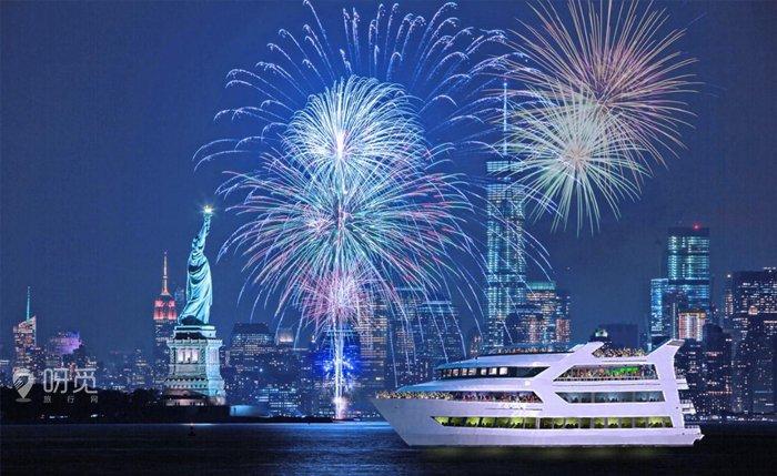 这次的跨年夜烟花游船除了可以让你欣赏到极致的纽约美景,还会看到图片