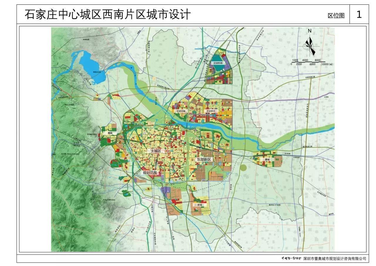 城市设计总平面图,总体鸟瞰图,景观风貌结构图,开发强度规划图,建筑