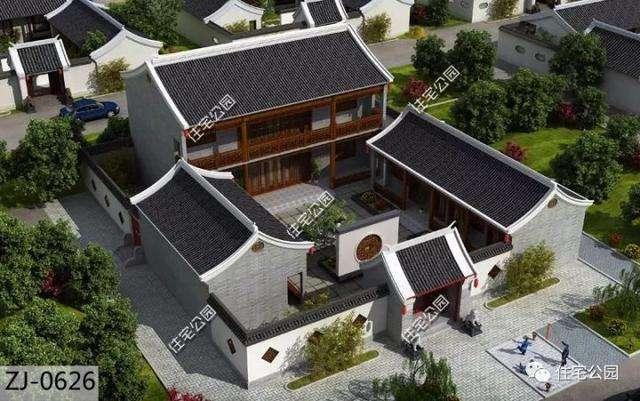 最新6套新农村别墅图纸,自建1最实用,第6套中式庭院美醉了!