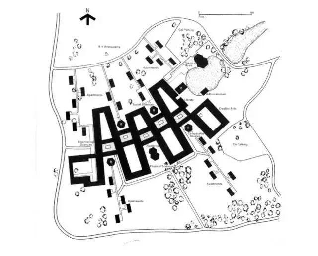 埃塞克斯校园规划总平面图
