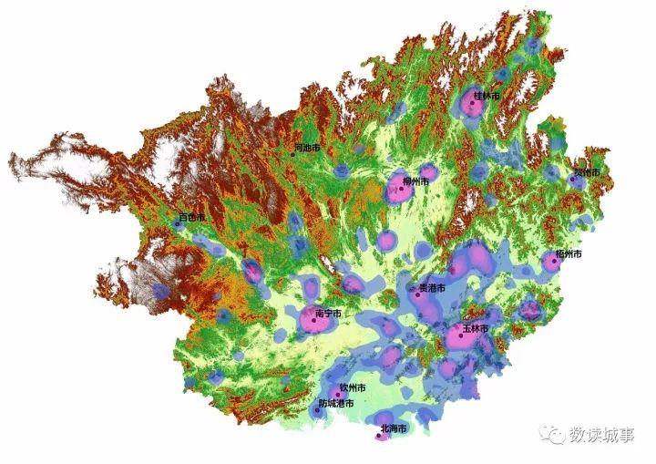地形是如何影响人口与城市分布的图片