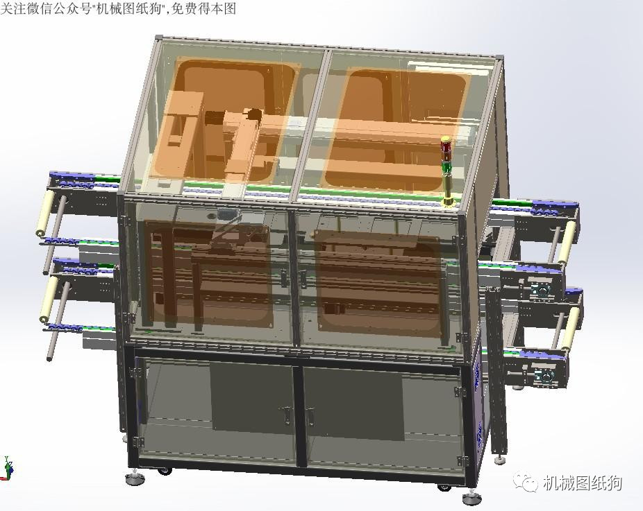 【工程机械】fpc模激光切割机3d模型图纸 solidworks设计