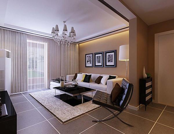 4套简约风格客厅装修效果图 时尚不简单!