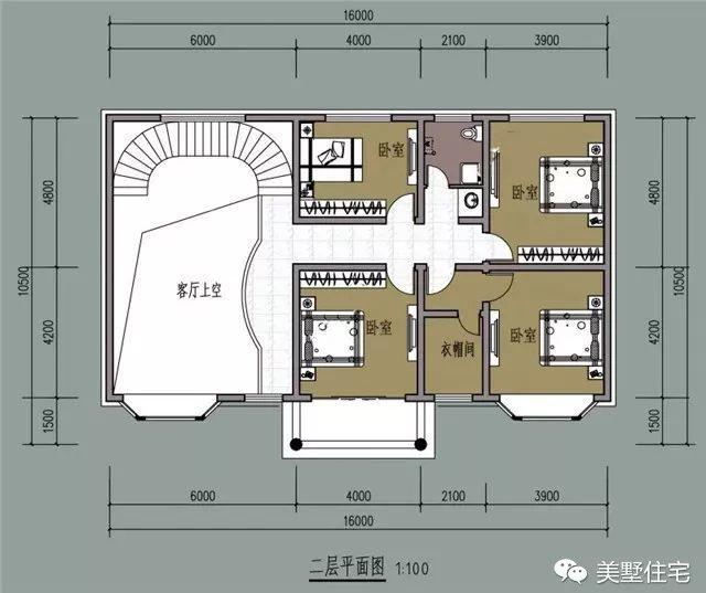 7米高品质农村别墅,挑高客厅旋转楼梯,还有老虎窗