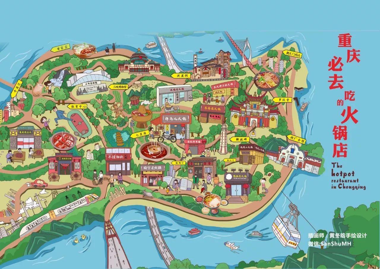 全国美食手绘地图